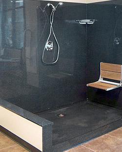 Onyx bath design alternative tile option topeka ks for Flooring topeka